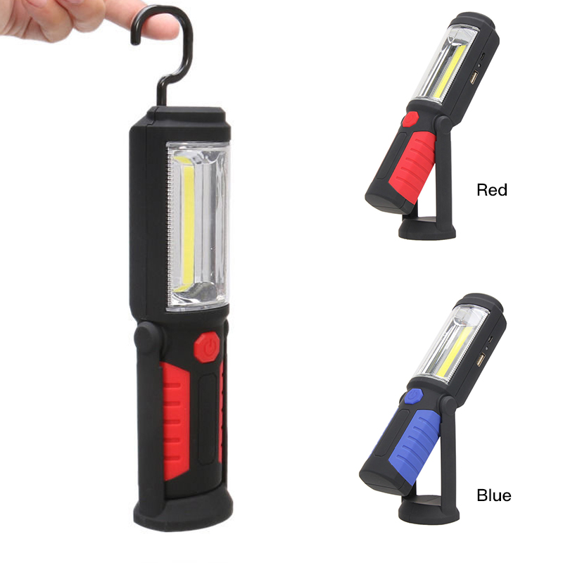 Multifunction USB Rechargeable COB+ LED Flashlight,Outdoor Work Stand Light Magnet+HOOK+Mobile Power For Phone Lanterna Lamp T2