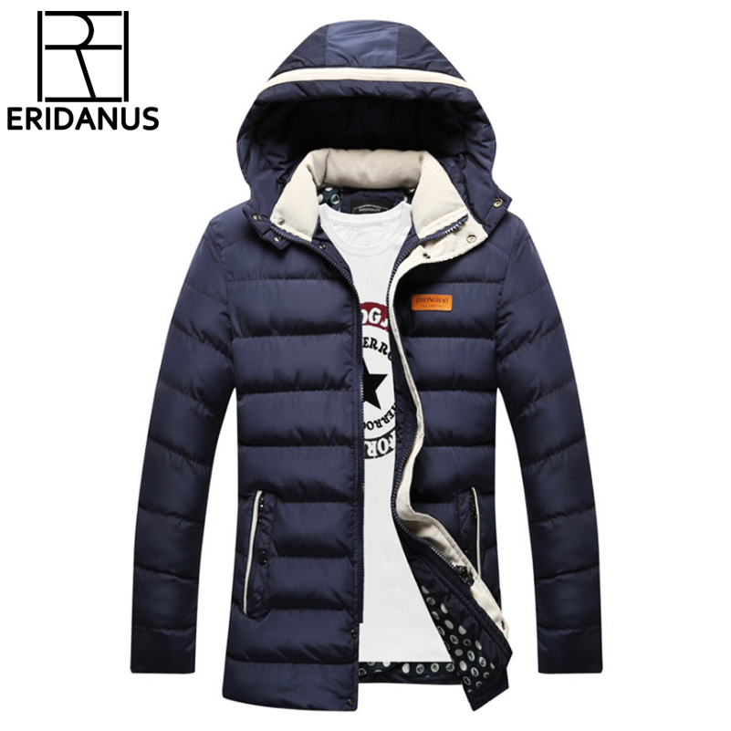 2017 New Winter Parka Long Men Jacket Coats Brand Thicken Wadded Cotton-padded Jackets Outerwear Hooded Long Coat Slim Fit X304 new men jackets winter cotton padded jacket men s casual zipper warm parka fashion stand collar thicken print outerwear coat