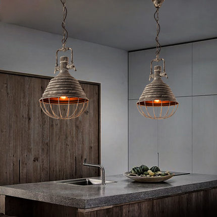 Loft Industrial Style Pendant Lighting Wrought Iron Vintage Lamp Restaurant Creative Edison Light Fixtures Bar Art Deco Lighting new loft vintage iron pendant light industrial lighting glass guard design bar cafe restaurant cage pendant lamp hanging lights