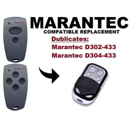 Marantec D302, D304 433Mhz Garage Door replacement Remote Control Duplicator цены