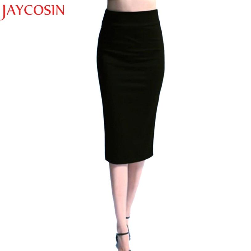 JAYCOSIN Korean High Waist Pencil  Bodycon Fashion Midi Skirt Red Black Purple Slit Women's Skirt Jupe Femme Streetwear 8.28