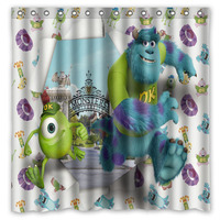 Monsters University Decorative Shower Curtain Waterproof Polyester Fabric Bathroom Curtains Bath Screens 71*71 inch