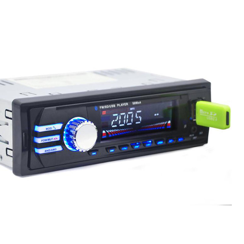 12 V Car Stereo FM Radio MP3 Reproductor de Audio Bluetooth de la Ayuda Del Telé