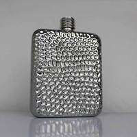 Free Shipping 1 X Portable Stainless Steel The Volcano Grain Style Hip Flask 6 Ounces Outdoor