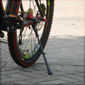 Черная Алюминиевая Подставка для велосипеда, весна, одна нога, подходит для 16, 20, 24, 26, 700C, велосипедные стойки, велосипедные стойки