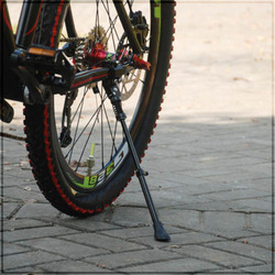 Preto Alumínio Bicicleta Kickstand Primavera Perna Único Apto para 16 20 24 26 700C Bicicletários Pontapé Stands Ciclismo Sidestay