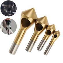 4pcs/set HSS High Speed Steel Titanium Coated Countersink Deburring Center Stepped Metal Drill Bits Expanding Chamfering Tools ews 10 x high speed steel double ended countersink center drill bit 1mm