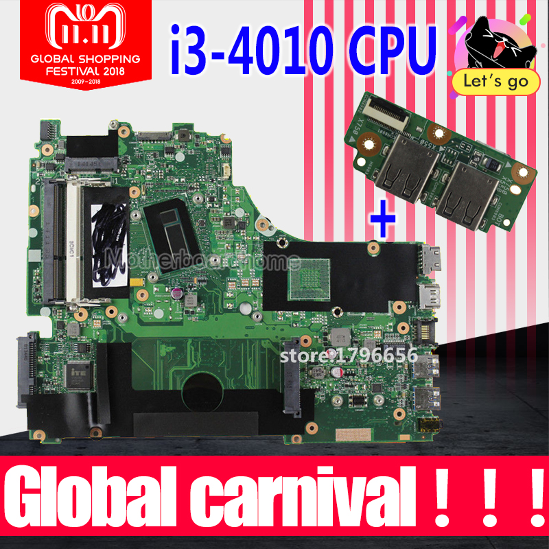 Send board+X750LA Motherboard I3-4010 CPU For ASUS X750L X750LN X750LB laptop Motherboard X750LA Mainboard X750LA Motherboard цена