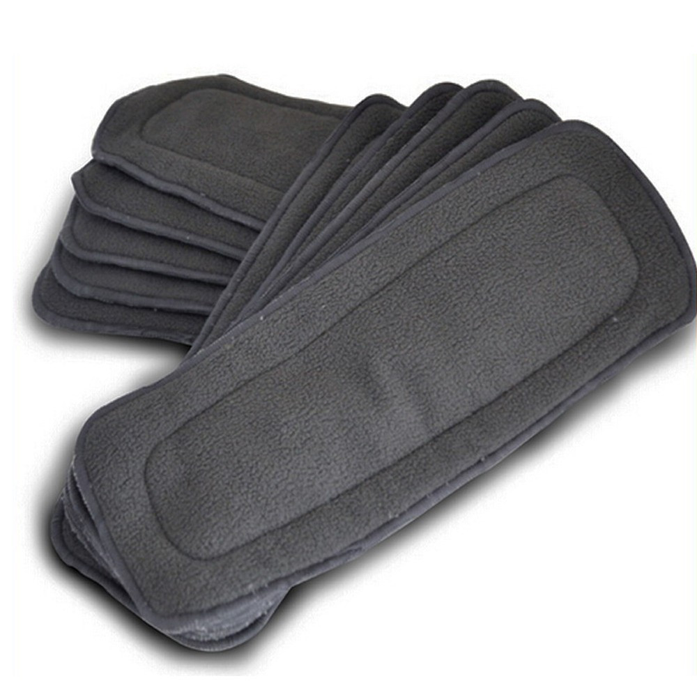 Well Quality 20Units A Pack Bamboo Charcoal Inserts Reusable Liners For Pocket Cloth Diapers Absrobent Pads