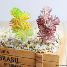 Realistic Artificial Succulent Small Plastic Plants Unpotted For Home Garden Decoration