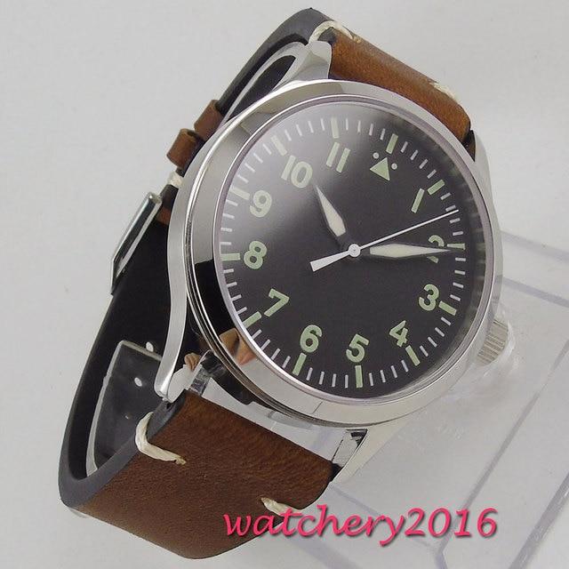 Corgeut Mechanical Watches Diver Minimalist Watch for Men Wristwatch Clock Auto Date Waterproof Automatic Relogio Masculino 2018