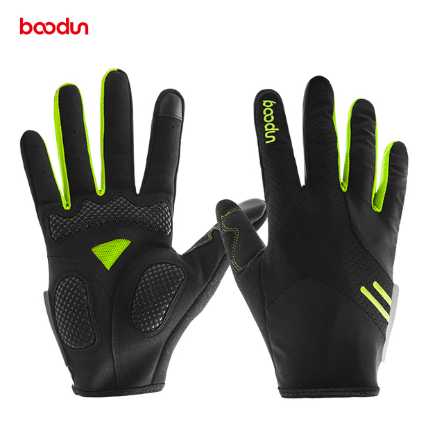 Men Women Touch Screen Bike Gloves With Thicken Pad Breathable
