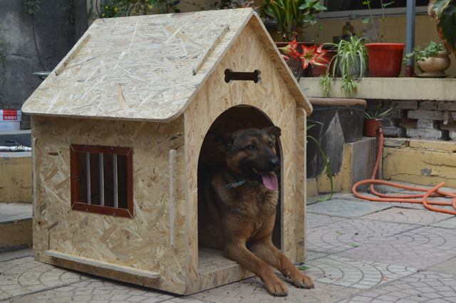 pet outdoor large Wood Dog House ,rain-proof  Pretty Terrace Kennel  large Pet Products For Dogs, dog bed ,dog home