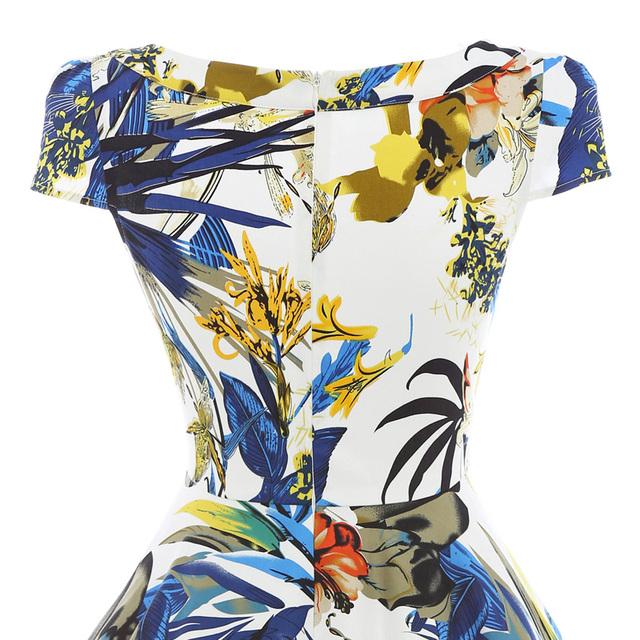 Belle Poque Summer Dress Women 2017 Pin Up Womens Floral Dresses Retro Casual Party robe ete Rockabilly 60s 50s Vintage Dresses