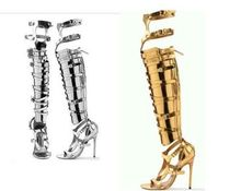 цены gold over the knee sexy fashion high to help high-heeled boots nightclub stage women's boots