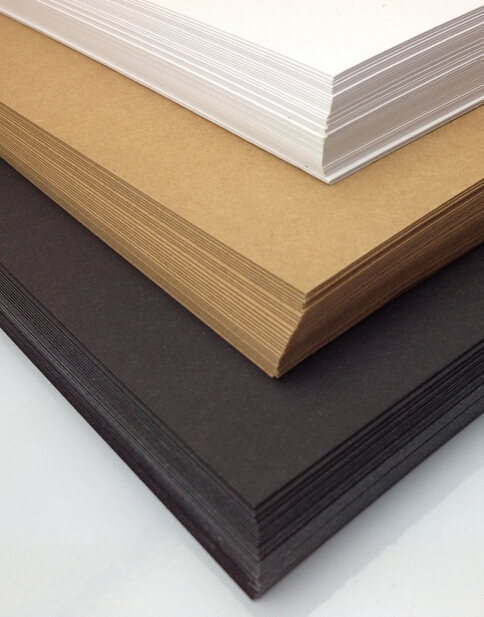 20pcs Size A4 Plain Whit Brown Kraft 230gsm Recycled Card Black Cardstock Paper For Scrapbooking Cardmaking Craft 210*297mm