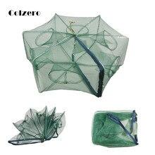 Folded  Fishing Net Portable Hexagon 6/8/16 Hole Shrimp Trap Fish Minnow Crab Baits Cast Mesh