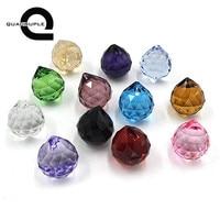 Quadruple 12pcs 30mm Multi color Feng Shui Faceted Crystal Ball Prism Chandelier Hanging Crystal Decor