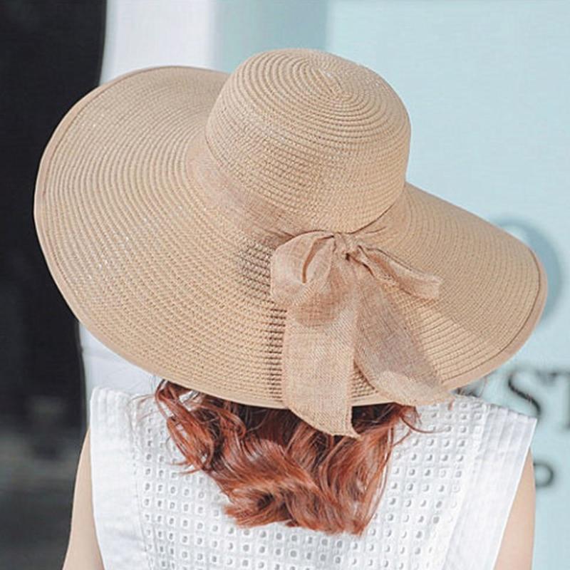 İsti Satış Yay Günəşli Şapka Qadınlar Üçün Böyük - Geyim aksesuarları - Fotoqrafiya 3