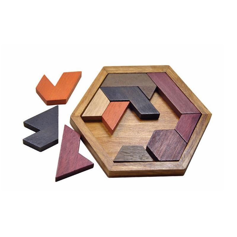 Niños Rompecabezas para niños Juguetes de madera Tangram - Juegos y rompecabezas - foto 2