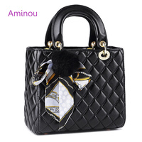 Aminou 2017 Luxury Handbags Women Bags Designer Fashion Diamomd Lattice Pu Leather Shoulder Bags Ladies Tote