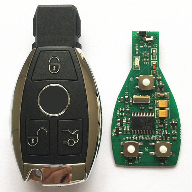 New Hot 3 Button Remote Key Fob 433MHz BGA With Chip For Mercedes Benz year  2000 + Car Replacement Key with Logo