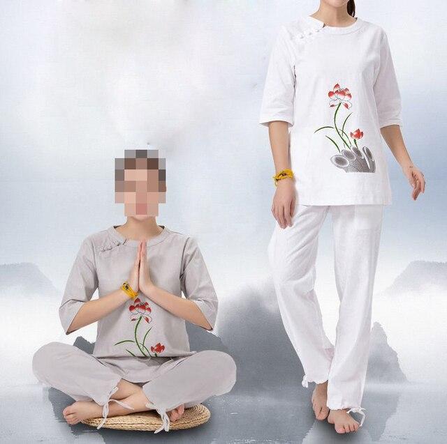 Visualizzza di più. 2 colore grigio bianco Primavera   estate   autunno  cotone e lino femminile uniformi vestiti a6e161f73bf