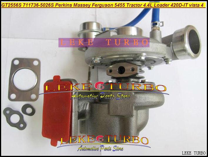 Free Ship GT2556S 711736-5026S 711736 2674A226 Turbo For Perkin s Massey Ferguson 5455 Tractor Loader Backhoe 420D-IT vista 4.4L gt2556s 711736 711736 0003 711736 0010 711736 0016 711736 0026 2674a226 2674a227 turbo for perkin massey 5455 4 4l 420d it