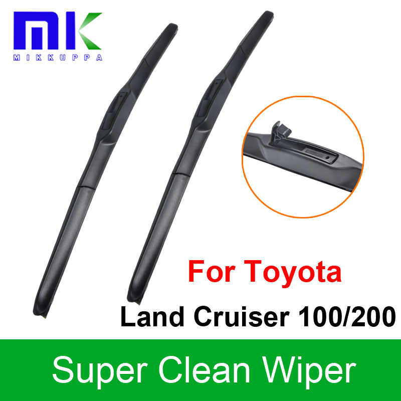 Silicone Rubber Wiper Blades For Toyota Land Cruiser 100/200 Pair 24+22 Windshield Windscreen Wiper Auto Car Accessories wiper blades for mazda 3 24