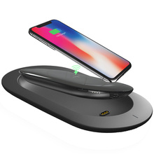 MIPOW QI Wireless Charger Power Bank With Smart Dock 5V 2A  5000mah Portable Powerbank External Battery For Iphone X Samsung