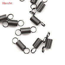 10Pcs/Pack Stainless Steel Small Tension Spring With Hook For Tensile DIY Toys(China)