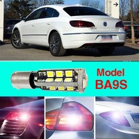 Ownsun Error Free BA9S Socket 360 Degrees Projector Lens LED Backup Reverse light R5 Chips Replacement Bulb For VW CC