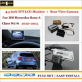 "Car Rear Camera + 4.3"" TFT LCD Screen Monitor = 2 in 1 Back Up Parking System - For Mercedes Benz A Class W176 2012~2015"