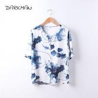 2017 Mew Darkman 5XL 4XL Fashion Short Sleeve White Shirt Blue Yellow Green Plus Size Women