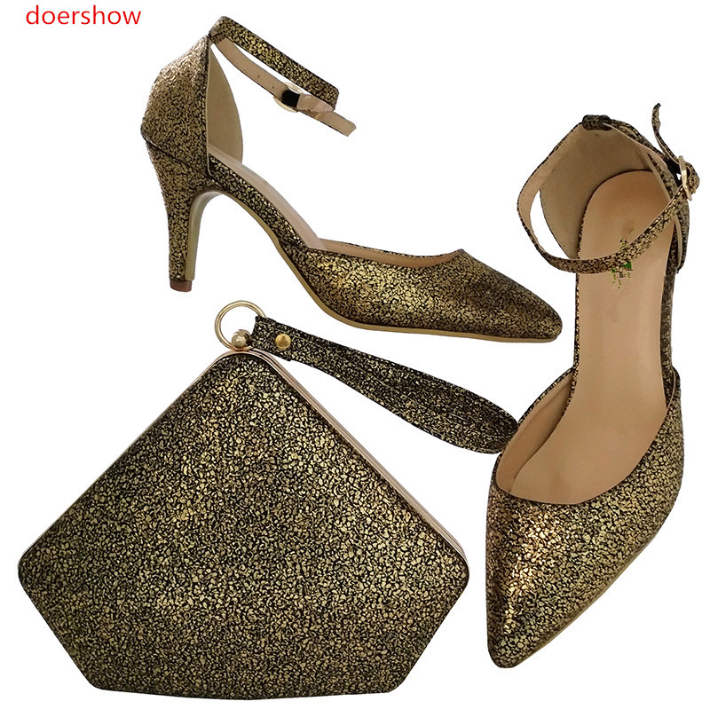 ร้อนขายแอฟริกันผู้หญิงกระเป๋าและรองเท้าสำหรับงานแต่งงานRhinestonesส้นเท้าที่มีคุณภาพดีรองเท้...