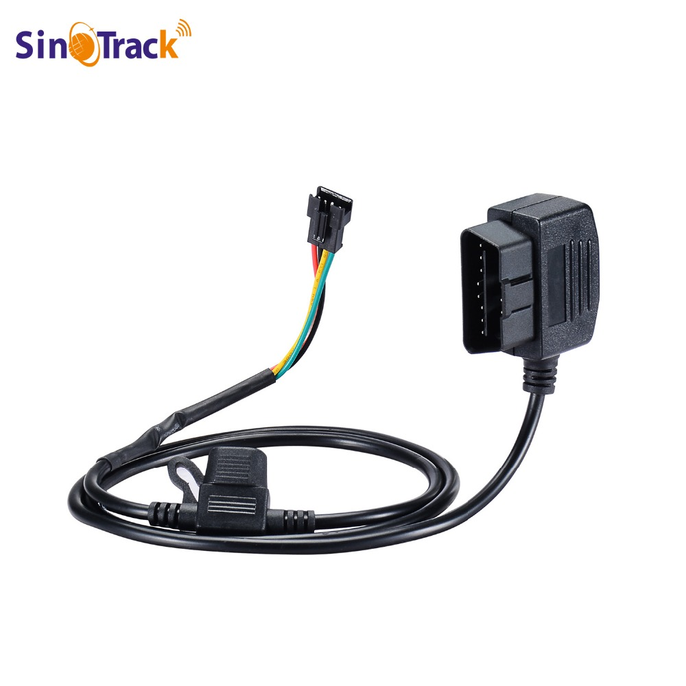 SinoTrack 12V 16 Pin OBD OBD2 OBDII Power Adapter Extension Connector Cable for GPS tracker