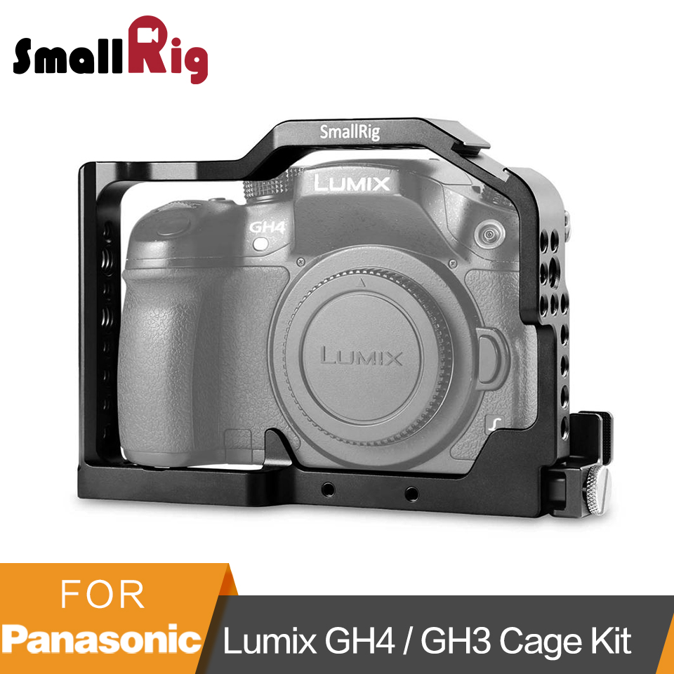 SmallRig Professional Camera Cage for Panasonic Lumix GH4 GH3 with Built in Side Nato Rail and