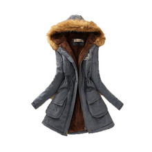 Casual Women Thick Parkas Army Green Pluse Size XXXL Muti Color Female Outwear Coat Long Lady
