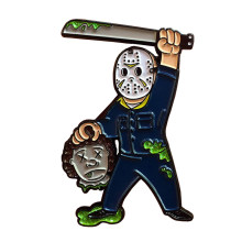 Friday The 13th Jason Voorhees Fallout Vault Boy Horror Sesuai Varian Enamel Pin(China)