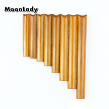 Chinese Folk Musical Instrument Pan Flute Bamboo Light Weigh 8 Pipes G Key Wind Instrument Panpipes Flauta Handmade Easy Carry цена 2017