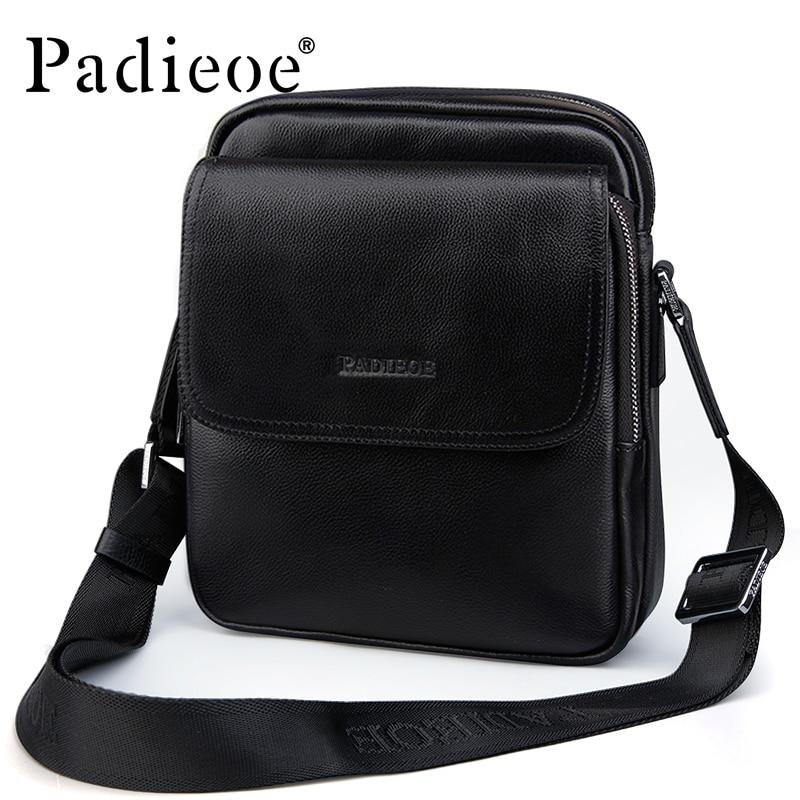 Padieoe Luxury Men Bag Messenger Bag Men Leather Shoulder Bag Small Crossbody Bags щетки стеклоочистителя bosch aerotwin 600 450mm 3 397 007 452