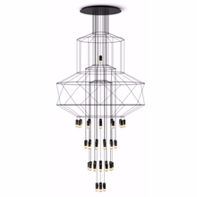 JAXLONG Modern Pendant Lights Living Room Atmosphere Duplex Staircase Hanging Lamp Iron Loft Dining Art Lustre Suspension