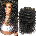 3/4pcs Brazilian Virgin Remy Hair Aliexpress Uk Deep Curly Hair Weave Cheap 7a Long Human Hair Thick  Hair Extensions Cexxy Hair