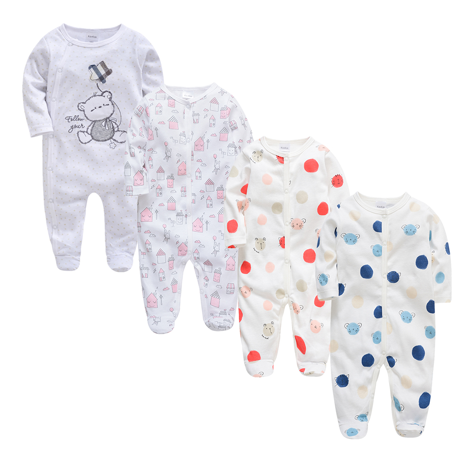 Kavkas 2019 Spring Newborn Baby Rompers Infant Baby Boy Girl Cartoon Animal Cotton Romper Jumpsuit Baby Clothes Baby Rompers