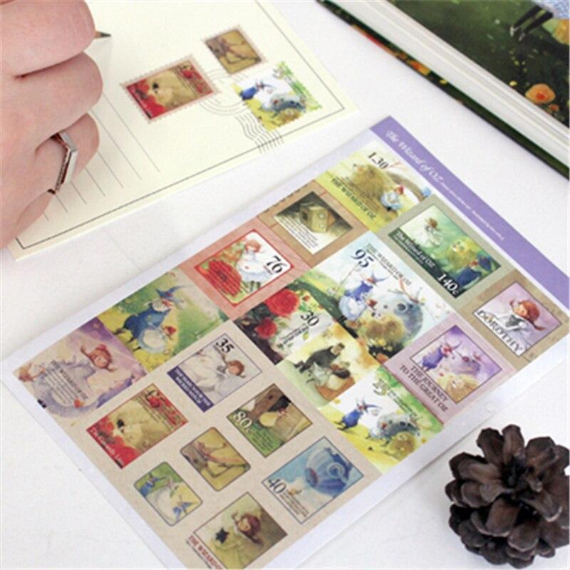 5 Pcs/Set New Kawaii Scrapbooking Stickers The Wizard Of Oz Decoration Ablum Photo Stickers Sticky Note Stationery Indigo