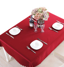 YO HOOM Kitchen Cotton Tablecloth Tablecover Coffee Table Cloth Table Cover Red Color Optional yo hoom kitchen cotton tablecloth tablecover coffee table cloth table cover simple blue color optional