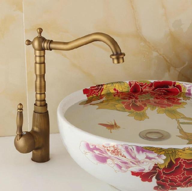 Basin Sink Faucet Water Mixer Tap Toneir Bath Br Bathroom Wash Taps Crane 6718
