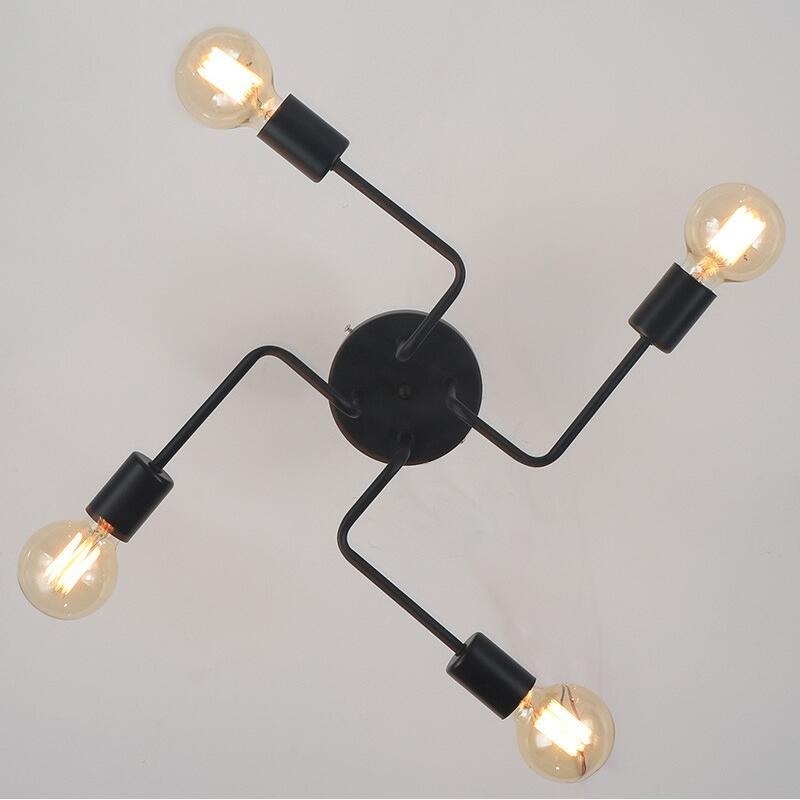 HTB1PQ8 XKGSBuNjSspbq6AiipXa6 Oygroup Vintage Ceiling Lights For Home Lighting Luminaire Multiple Rod Wrought Iron Ceiling Lamp E27 Bulb Living Room#CL06/CL08
