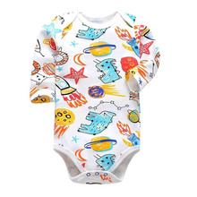 Tender Babies Baby boy and girl bodysuit long-sleeved tights one-piece autumn winter printing newborn baby clothes