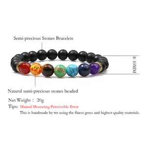 Image 3 - OAIITE 7 Chakra Yoga Bracelet Healing Heart Therapy Bracelet Women Men Natural Stone Bead Jewelry Chakra Prayer Balance Bracelet